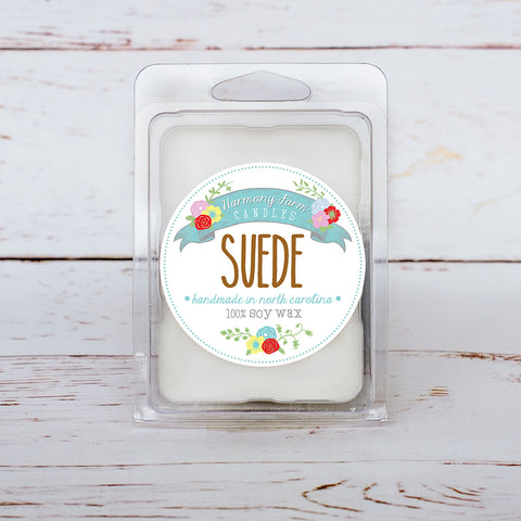Suede Soy Wax Melts in Clamshell