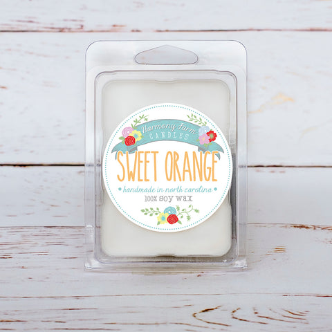 Sweet Orange Soy Wax Melts in Clamshell