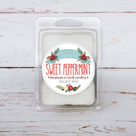 Sweet Peppermint Soy Wax Melts in Clamshell