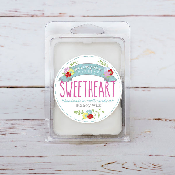 Sweetheart Soy Wax Melts in Clamshell