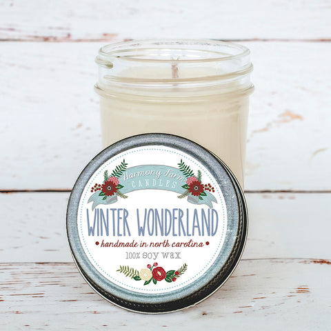 Winter Wonderland Soy Wax Candle in Jelly Jar