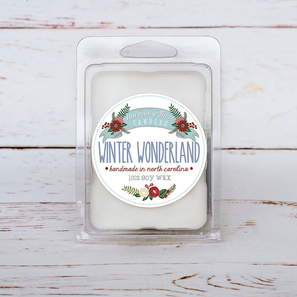 Winter Wonderland Soy Wax Melts in Clamshell
