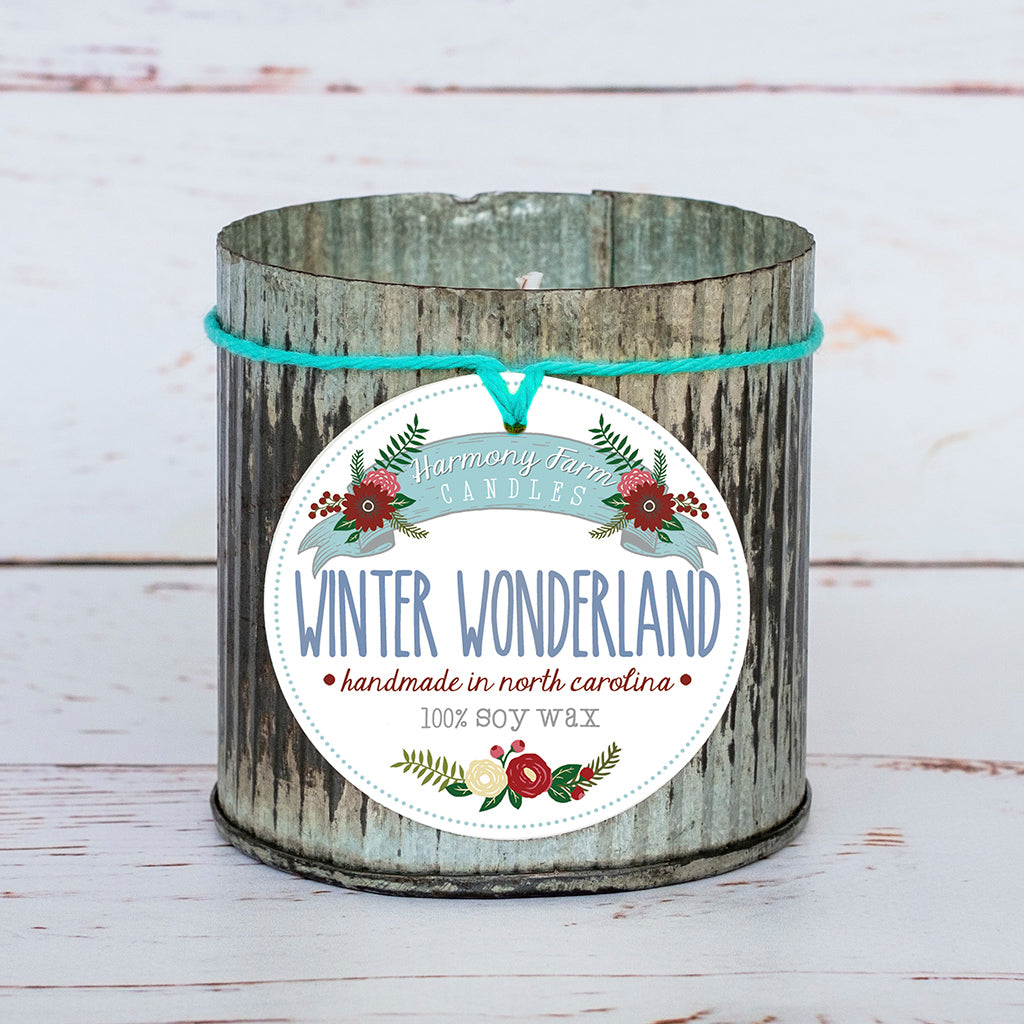 Winter Wonderland Soy Wax Candle in Zinc Jar