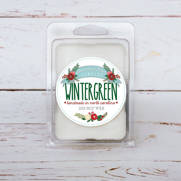 Wintergreen Soy Wax Melts in Clamshell