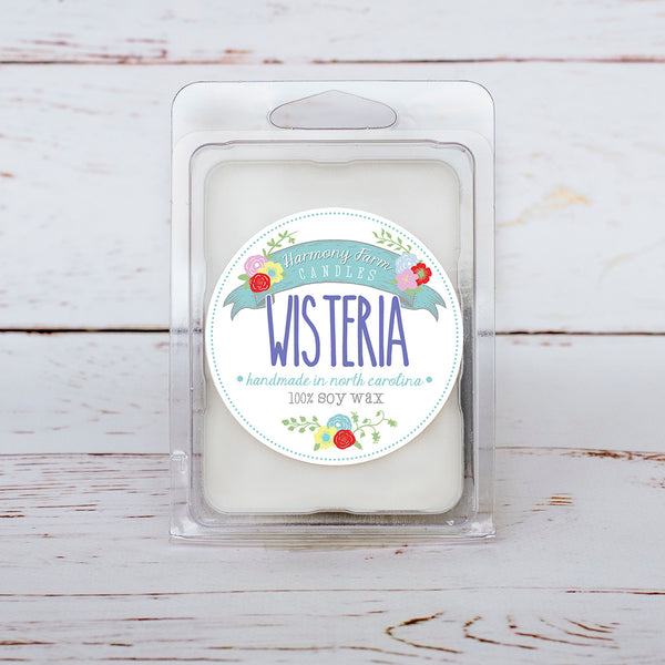 Wisteria Soy Wax Melts in Clamshell