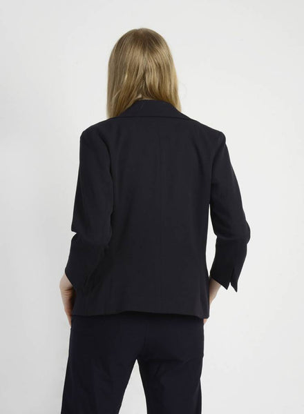 3/4 Sleeve Blazer - Black - XL