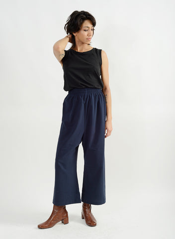Athena Relax Pant - Navy