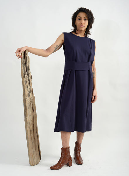Band Dress - Navy