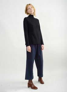 Basic Mock Neck Sweater - Black
