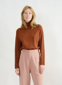 Basic Mock Neck Sweater - Camel