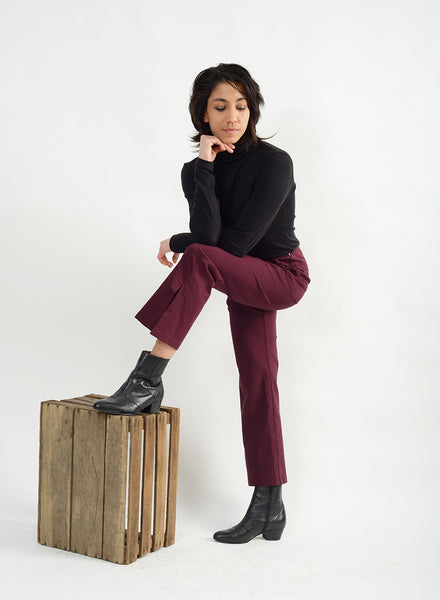 Big Slit Pant - Burgundy