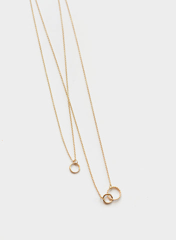 Blue Sky - Delicate Double Circle Chain