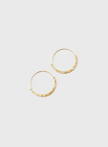 Blue Sky - Hammered Hoops