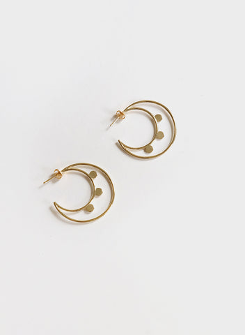 Blue Sky - Moon Earrings