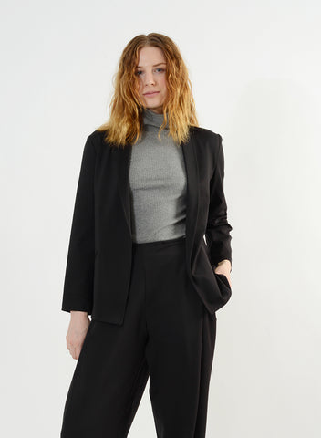 Cozy Column Jacket - Black