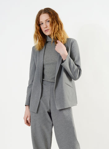 Cozy Column Jacket - Heather Grey