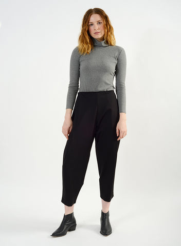 Cozy Pleat Pant - Black