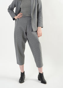 Cozy Pleat Pant - Heather Grey