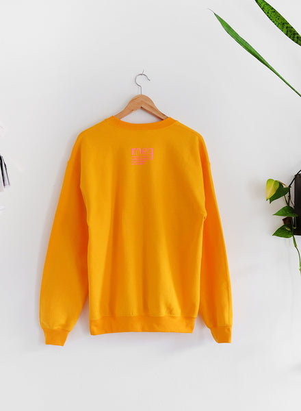 Stay The F*ck At Home Sweatshirt - Mustard