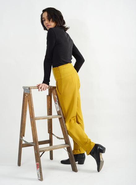 Dip Pant With Band - Amber