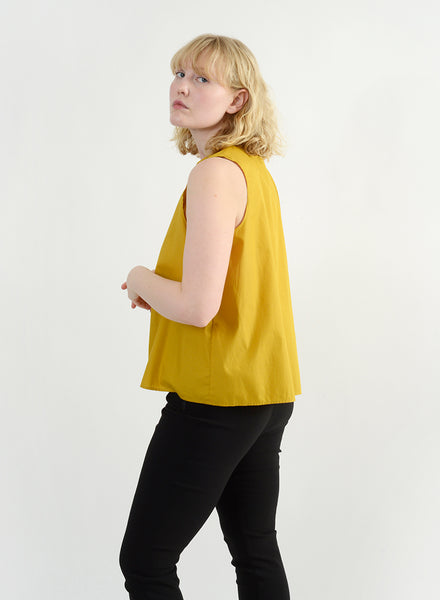 Elastic Side Top - Mustard