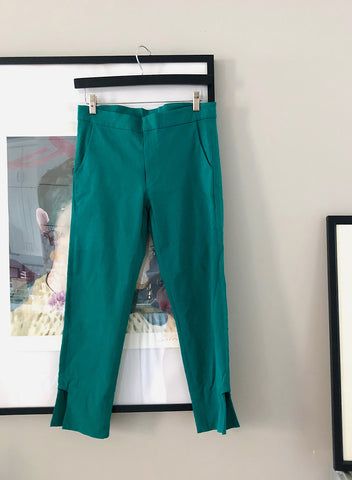Green Cut-out Trousers - S