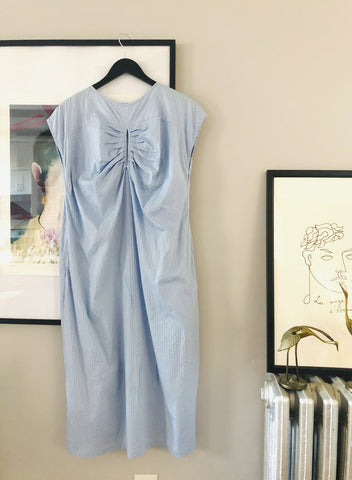 Swiss Dot Baby Blue Dress - M