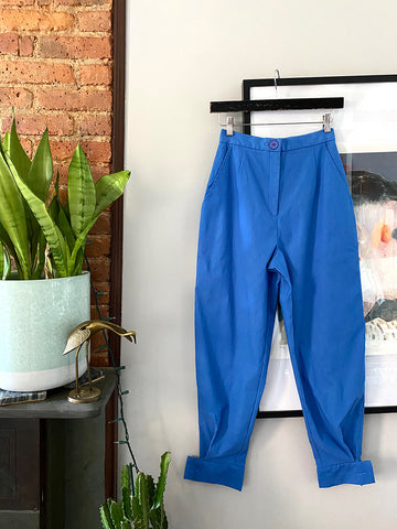Azure Blue High-Waist Pants - XS