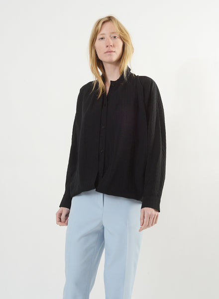 Infinity Button Down - Black/Black