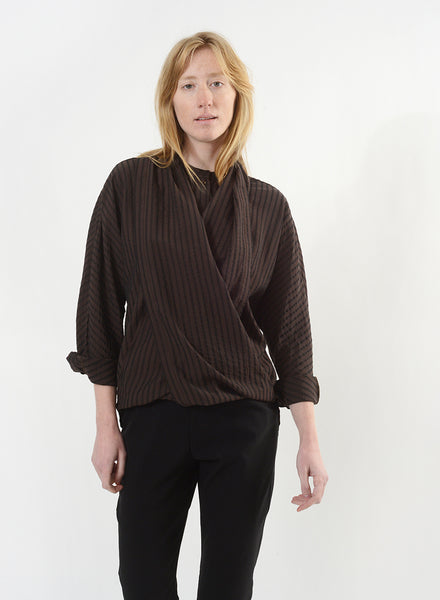 Infinity Button Down - Brown/Black