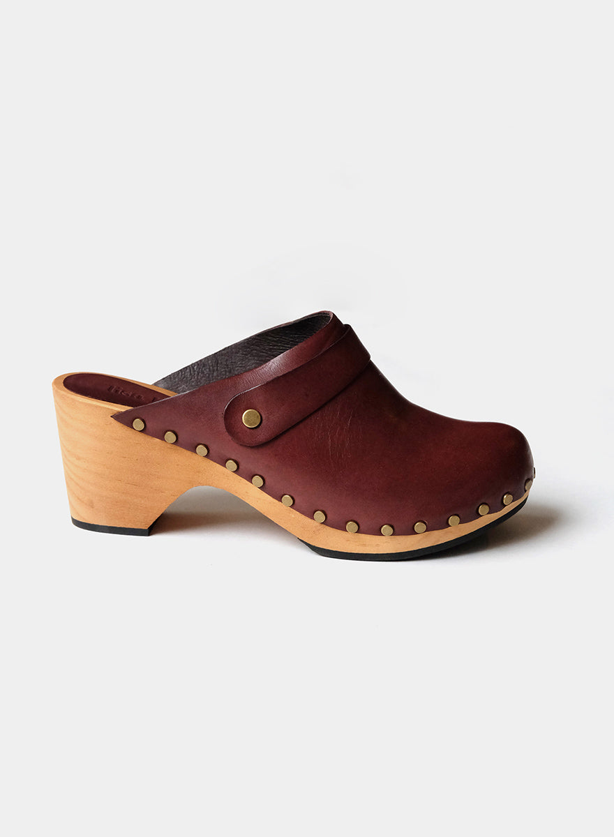 Lisa B. High Heel Clog - Acorn