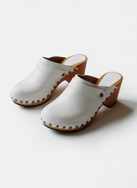 Lisa B. High Heel Clog - Chalk