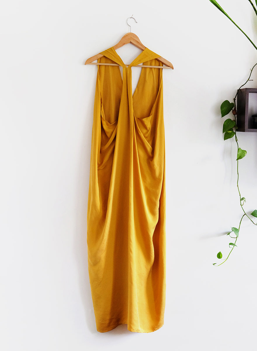 Luis Halter Dress - Turmeric