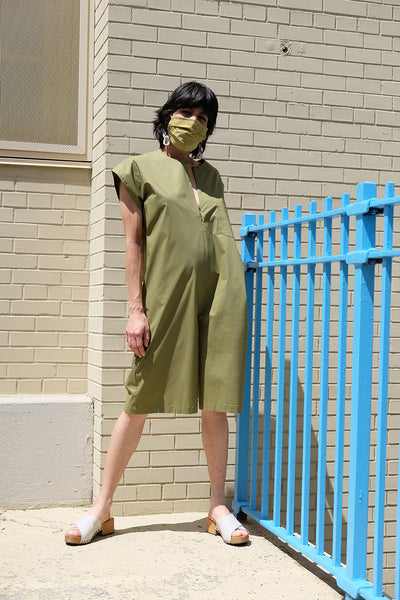 Michelada Jumpsuit - Pea Green