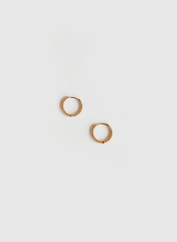 Blue Sky - Micro Textured Hoops