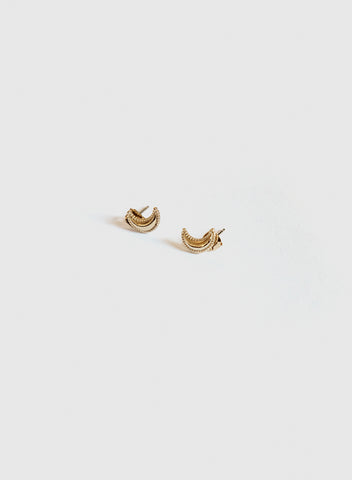 Blue Sky - Mini Crescent Studs