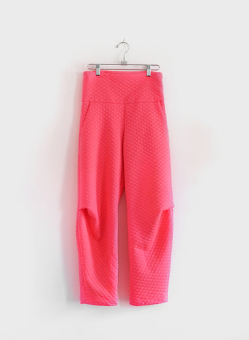 Quilted Dip Pant - Hot Pink