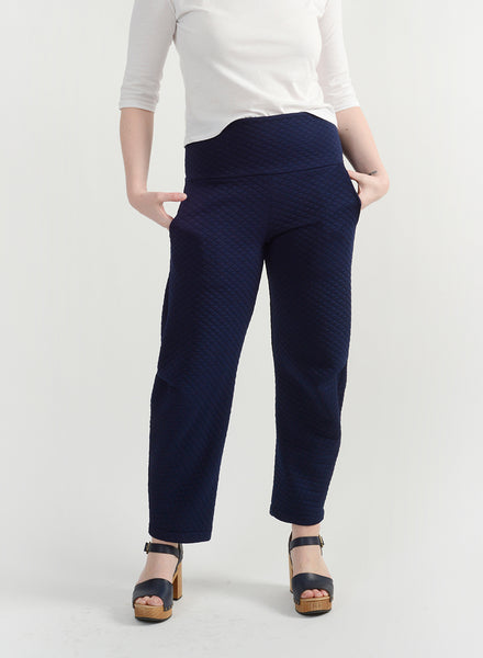 Quilted Dip Pant - Navy