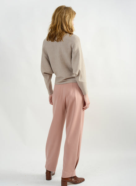 Ribbed Cocoon Sweater - Oatmeal