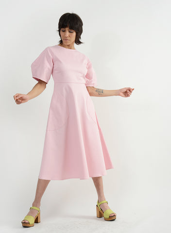 Round Pocket Dress - Pink
