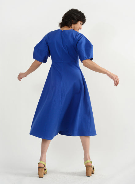 Round Pocket Dress - Royal