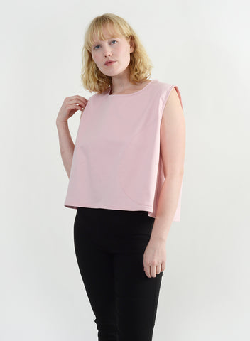Round Pocket Top - Pink
