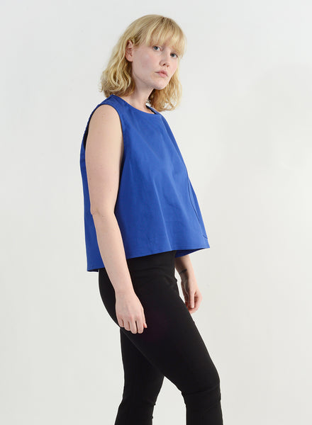 Round Pocket Top - Royal