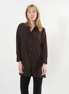 Smock Button Down - Brown/Black