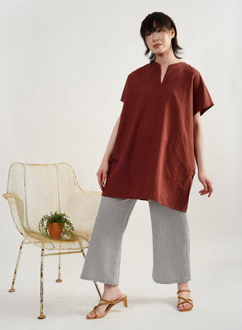 Painter's Smock - Maroon