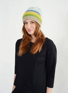 Multicolored Striped Beanie
