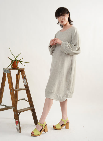 Sweatshirt Dress - Grey Terry
