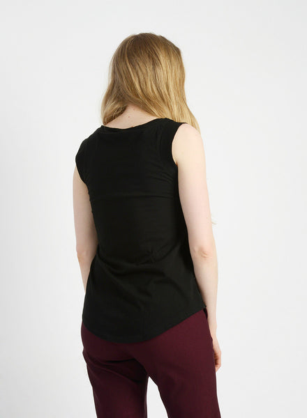 Cap Sleeve Tank - Black