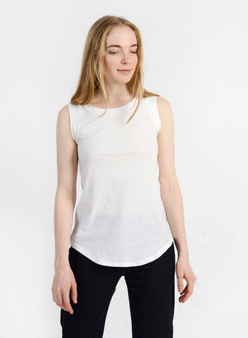 Cap Sleeve Tank - White
