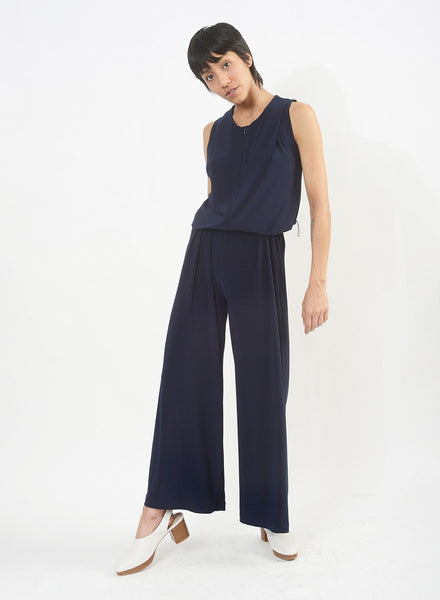 Chic Onesie w/ Belt - Navy